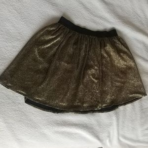 Sparkly gold and black Gap Kids skirt.